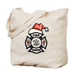Christmas Firefighters Tote Bag