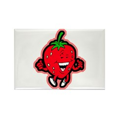 Dancing Strawberry Rectangle Magnet