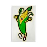Dancing Corn Rectangle Magnet