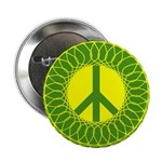 Green Peace Sign (10 pack of buttons)