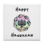 Hanukkah Chanukah Tile Coaster