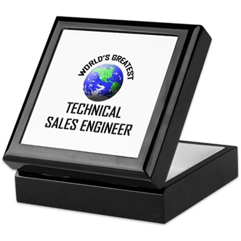 World's Greatest TECHNICAL SALES ENGINEER Keepsake T143 Keepsake Box by CafePress
