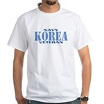 KOREAN WAR NAVY VETERAN! White T-Shirt