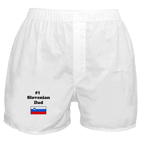 1 Slovenian Dad  Family Boxer Shorts by CafePress