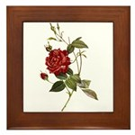 Red Rose Art Plaque