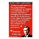 Bush 1st Amendment Postcards