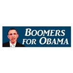 Boomers for Obama '08 bumper sticker