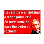 War on Evil Bush Torture Poster