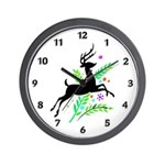 Christmas Reindeer Wall Clock and personalized Xmas holiday gifts to decorate your home and office! Matching Christmas theme designs on t-shirts and gifts!