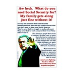 President Bush Social Security Poster
