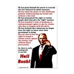 "Heil Bush Poster Print (11 by 17"")"