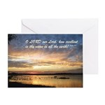 Psalm 8:9 Greeting Card