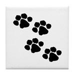 Pet Paw Prints Tile Coaster