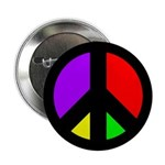 Multicolored Peace Sign (button)