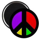 Multicolored Peace Sign Fridge Magnet