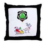 Christmas Police Throw Pillow