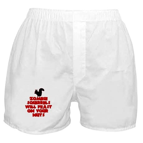 Zombies Squirrels  Funny Boxer Shorts by CafePress