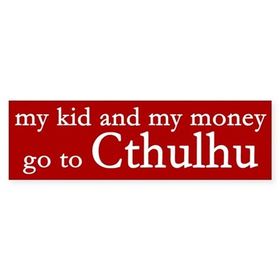My Kid and My Money Spoof Sticker