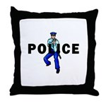Police Action Throw Pillow