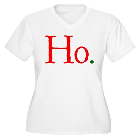 Ho. Christmas Holiday Women's Plus Size V-Neck T-Shirt by CafePress