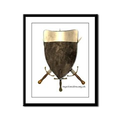 Templar Shield Framed Panel Print
