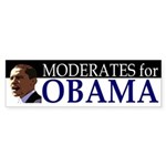 Moderates for Obama bumper sticker