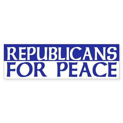 Republicans for Peace (bumper sticker)