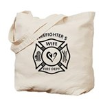 Tote bags for our firefighters wife are 100% cotton canvas tote bags have plenty of room to carry everything you need when you are on the go. They include a bottom gusset and extra long handles for easy carrying. Tote bags for shopping, travel and great for home or office!  Click to browse our firefighter wife and custom tote bags here......