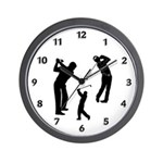 Golf Club Wall Clock and Golf lover gift ideas personalized on coffee mugs, gift clocks, t-shirts, sweat shirts and golf shirts! Golfing tote bags, buttons and golf theme pillows are great gift ideas!