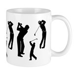 Golf Club Mug-Golf lover gift ideas personalized on coffee mugs, gift clocks, t-shirts, sweat shirts and golf shirts! Golfing tote bags, buttons and golf theme pillows are great gift ideas!