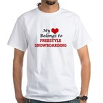 My heart belongs to Freestyle Snowboarding T-Shirt