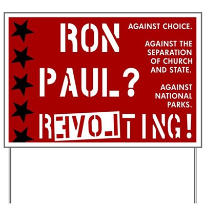 Anti Ron Paul . Revolting!