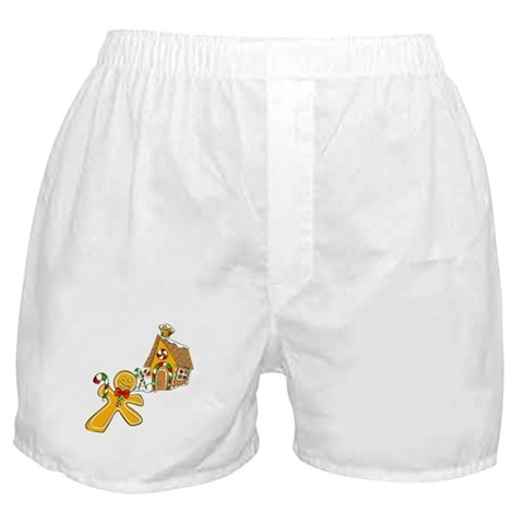 Gingerbread Holiday Cute Boxer Shorts by CafePress