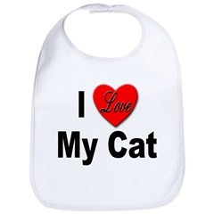 I Love My Cat Bib