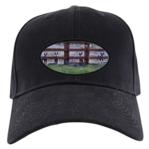 - By the Fence Line Pets Black Cap by CafePress