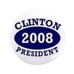 Big 3.5 inch Clinton 2008 Button