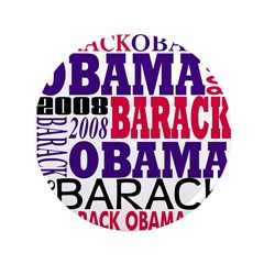 Barack Obama 2008 3.5 Text Button