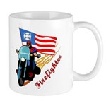 Firefighter Biker Mugs personalized coffee and cocoa mugs for firefighters that are motorcycle and biker theme personalized! Our biker t-shirts, watches, travel mugs are custom designed for firefighters with matching mousepads, clocks and gift ideas! Personalized police, EMT and paramedic biker mugs also available. Click to browse......