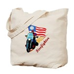 Firefighter Tote Bags with motorcycle themes, tote bags with lots of room, easy to carry handles and firefighter themes that are ready to go.  Pack and go tote bags with matching t-shirts, mousepads, watches, travel mugs and other great gift ideas......