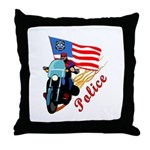 Firefighter Biker Throw Pillow