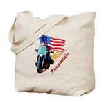 Gifts for paramedics personalized tote bag with biker theme and matching travel mugs, clocks, t-shirts, key rings and business card holders!  Click to browse our EMS, EMT and paramedic gift ideas......