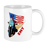 EMT Bikers Mug for coffee, cocoa or tea!  EMT biker's motorcycle personalized on EMT gifts and t-shirts. Featuring gift clocks, mugs, tote bags and great gift ideas for EMT's!