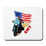 EMT Bikers full selection of gifts, mugs and apparel featuring motorcycle on flames, EMS flag and pride.