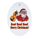 Santa Bow Violin Ornament