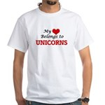 My Heart Belongs to Unicorns T-Shirt