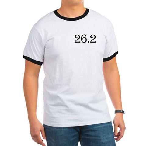 - 26.2 marathon runner shirt- frontback Sports Ringer T by CafePress