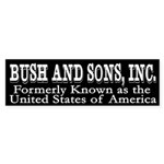 Bush and Sons, Inc. (bumper sticker)