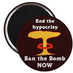 Ban the Bomb Refrigerator Magnet