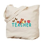 Teacher Reading Tote Bag