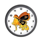 Flame Pony Wall Clock